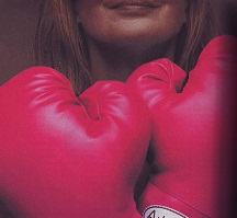 You can keep the pink fighter's gloves. Don't want 'em.