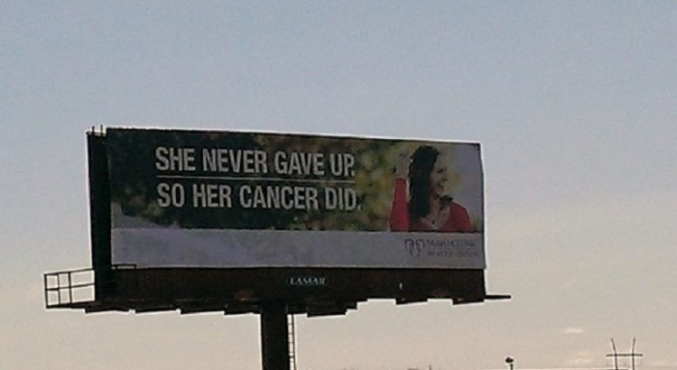 When a Cancer Billboard Is Offensive