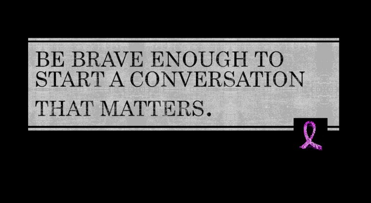 Start that conversation...Image via @Iwantmorethanapinkribbon