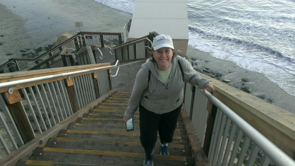 Stair climber at the beach