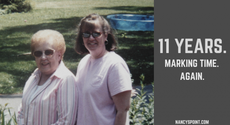 11 Years. Marking Time. Again. #breastcancer #metastaticbreastcancer #advocacy #grief #family #mothers #daughters #womenshealth