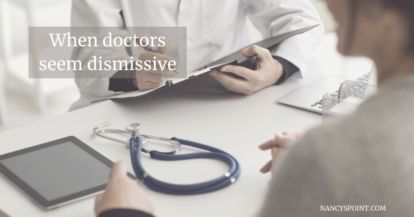 When your doctor seems dismissive #cancer #breastcancer #advocacy #womenshealth