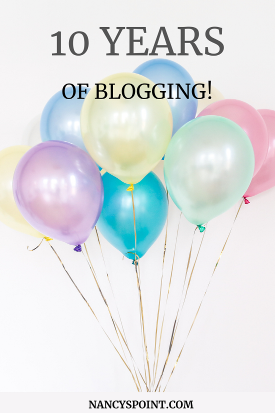 Celebrating 10 Years of Blogging & My Biggest #Giveaway Ever! #cancer #cancerblogs #blogging #writing #books