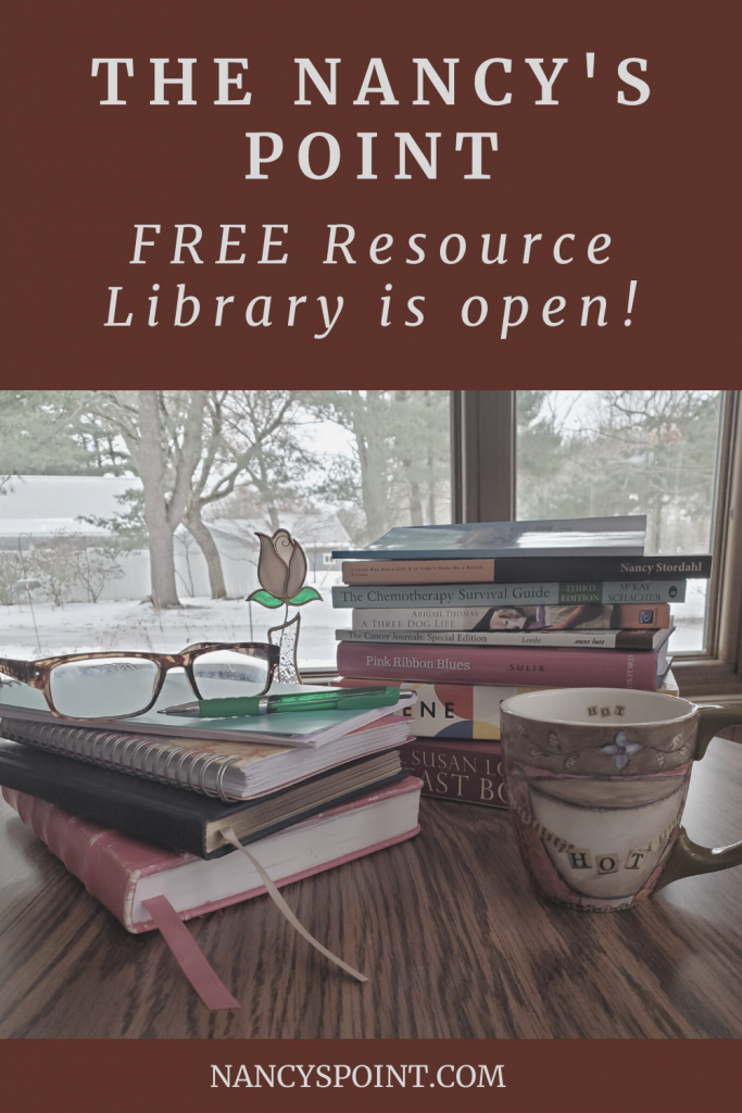 My FREE Resource Library is open! #blogging #bloggerstribe #cancer #breastcancer #advocacy #freestuff #ebooks